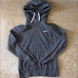 Nike Grey Long Neck Hoodie M